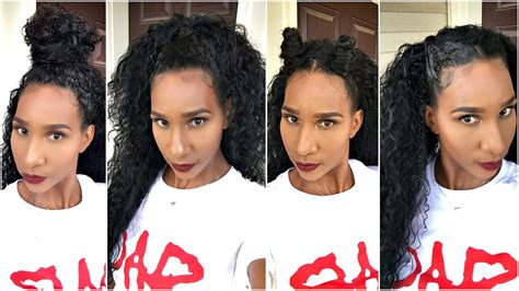 How To Style A Half Wig W/natural Curly Hair