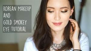 Korean Makeup Gold Smokey Eye Tutorial | 골든 스모키 메이크업 - YouTube