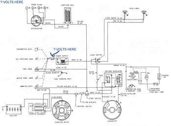 mf     gas engine wiring diagram tractorshedcom