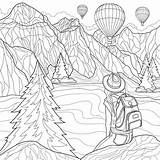 Coloring Adults Places Travel Scenic Printable Want Escape 30seconds Computer Tip Printables Xx sketch template