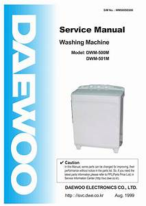 Schematic Diagram Manual Daewoo Dw 4010 Washing Machine
