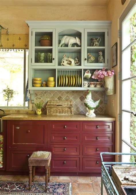 perfect red country kitchen cabinet design ideas for 17 best images about primitive farmhouse kitchen on