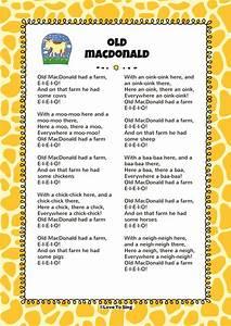 Old Macdonald Had A Farm Free Video Song Lyrics