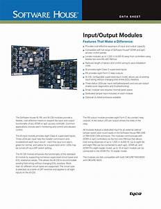 Tyco Software House As0073 001 Users Manual Input  Output