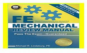 Fe Mechanical Review Manual Lindeburg Pdf Free Download