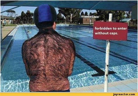 Funny Swimming  Forbidden To Enter Without Caps