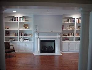Custom wall units traditional living room new york for Living room wall cabinets