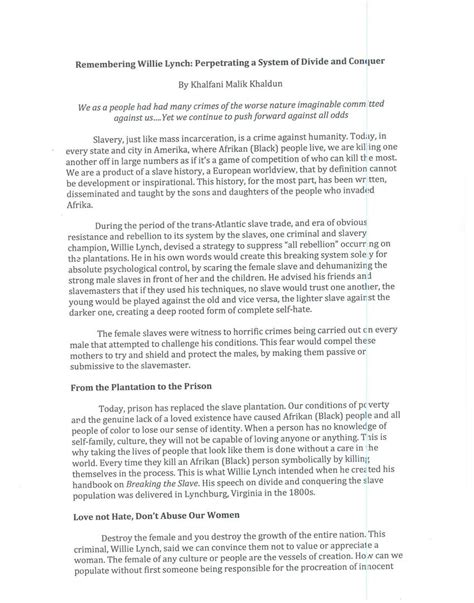 willie lynch letter pdf willie lynch letter pdf crna cover letter