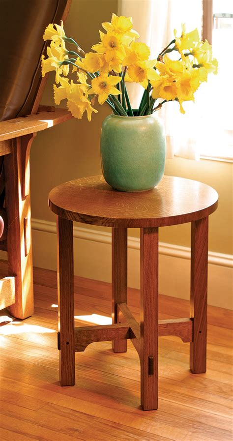 build  arts  crafts side table finewoodworking