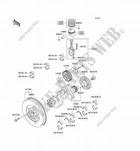 Crankshaft Piston For Kawasaki Mule 2510 Diesel No Year   Kawasaki