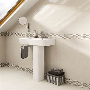 Wickes delaware brick mosaic tile 305 x 305mm wickescouk for Wickes bathroom border tiles