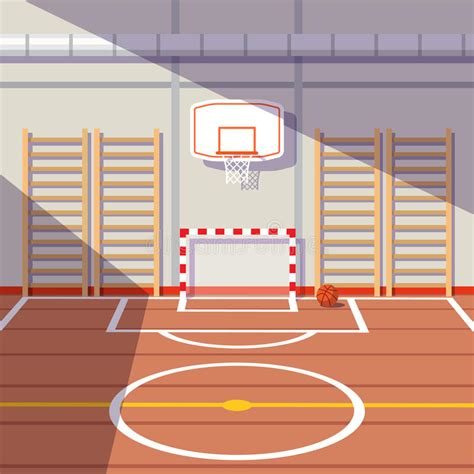School Or University Gym Hall Stock Vector