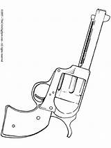 Coloring Gun Pages Drawing Shooter Pistol Tattoo Six Guns Easy Revolver Cowboy Nerf Tattoos Western Colouring Printable Drawings Cool Adult sketch template