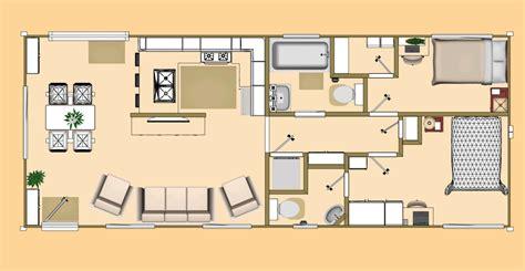 Floor Plan of our 640 sq ft Daybreak floor plan using 2 x