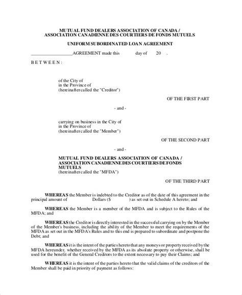 subordination agreements  word  format