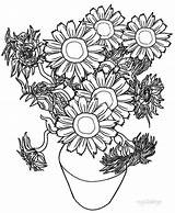 Sunflower Coloring Pages Sunflowers Adults Printable Cool2bkids Van Gogh Flower Colouring Plant Adult Flowers Sheets Drawing Whitesbelfast Printables Credit Info sketch template