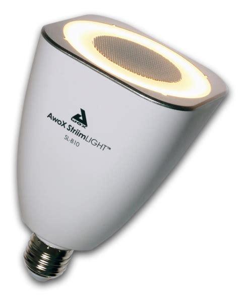 light bulb speaker bluetooth awox striimlight 8w e26 led light bulb with