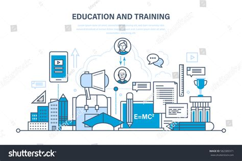 modern system education training distance learning stock
