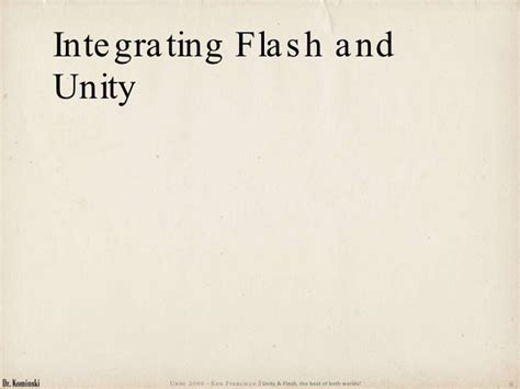 Unity And Flash, The Best Of Both Worlds!