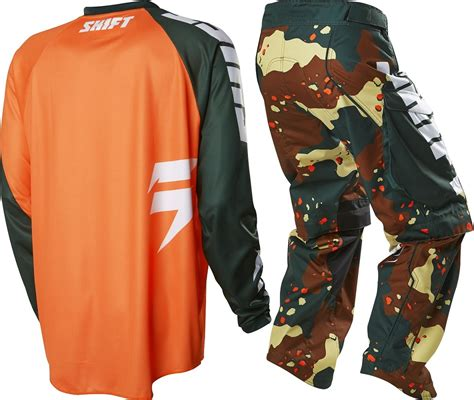 camo motocross gear shift new 2016 mx recon camo orange motocross dirt bike
