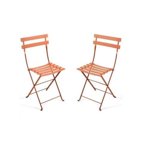 chaise pliante métal lot de 2 contemporain chaise de chaise pliante bistro en métal paprika fermob lot de