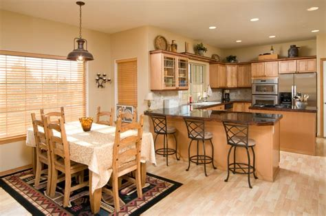 combining  kitchen  dining room yourwineyourwaycom