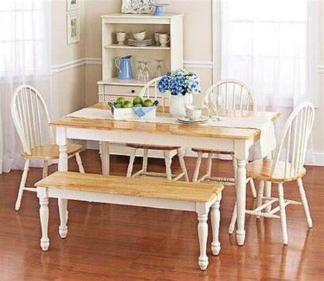 pc white dining set dinette sets bench chair table