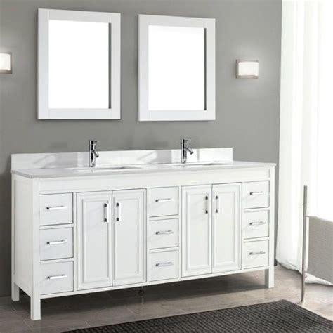 """For The Master Bath  Corniche 75"""" White Double Sink"""
