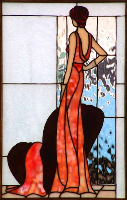 Art Deco Classy Lady Would Love This As Stained Glass