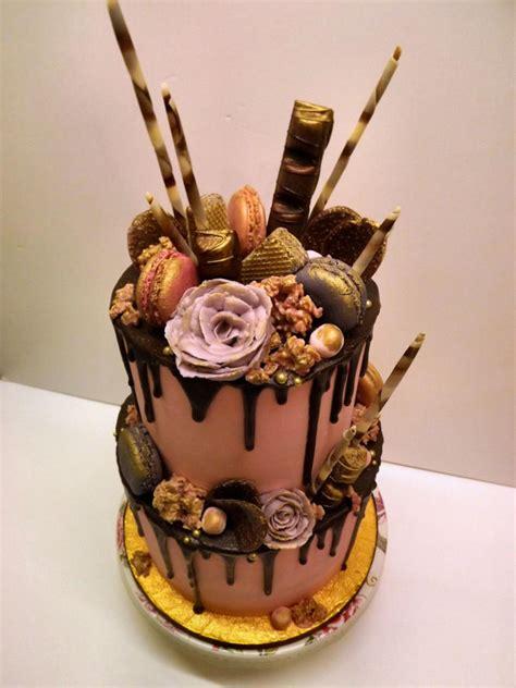 chocolate drip buttercream birthday cake cake