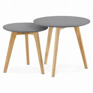 Table Basse Bois Gris : tables basses design gigognes art en bois et ch ne massif ~ Melissatoandfro.com Idées de Décoration