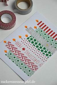 Weihnachtskarten Basteln Grundschule : kinderleichte weihnachtskarten mit masking tape selbst ~ Orissabook.com Haus und Dekorationen