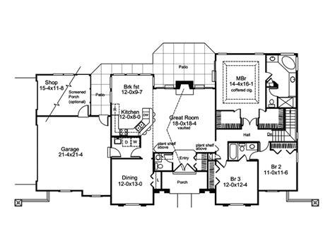 Pomona Park Southwestern Home Plan 007d-0166