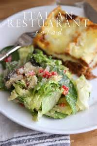 Italian Restaurant Salad Recipe