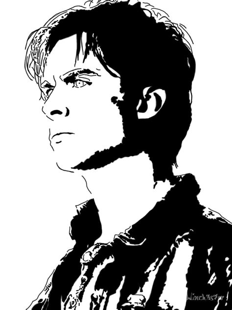 To do this, you will need a piece of paper, an eraser, and pencils. Damon Salvatore by winch3s7er on DeviantArt