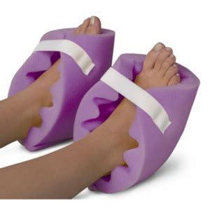 medline convoluted foam heel protectors purple non081440