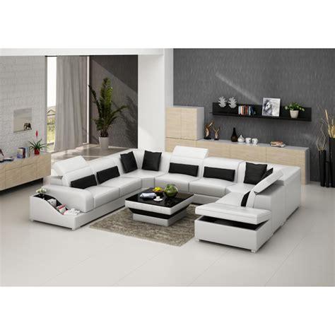 canapé d angle coffre de rangement canapé d 39 angle panoramique en cuir jazz 8 places avec