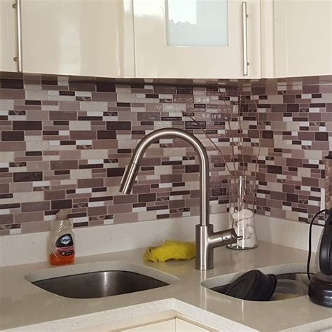 kitchen wall backsplash panels peel stick kitchen backsplash wall tiles 12in x 12in