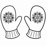 Mittens Coloring Mitten Winter Pages Snowflake Clipart Printable Sheet Cute Sheets Christmas Gloves Template Snowflakes Drawing Snowman Pattern Colouring Clip sketch template