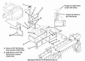 Gravely 734017 48 U0026quot  Dethatcher Gem  Tractor Parts Diagram