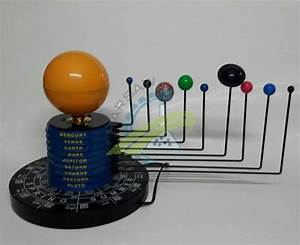 Harsaw Solar System 9 Planet Hand Operated Model With Led