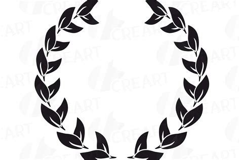 laurel wreath clipart monogram frames silhouette