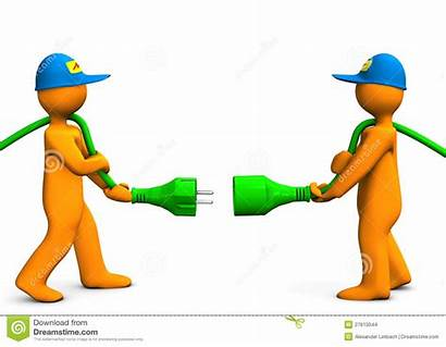 Connection Electrical Clipart Cartoon Clip Connector Illustration