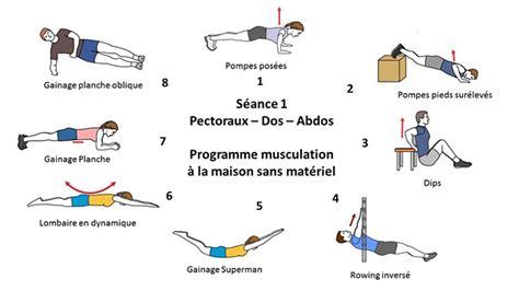 musculation maison programme 224 domicile sans mat 233 riel proteineandco