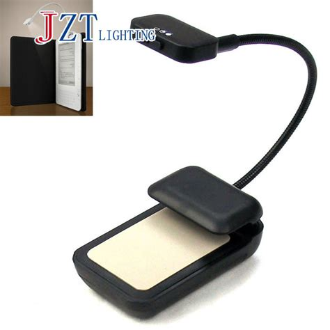 z newest book light 3 led e reader clip with flexible read
