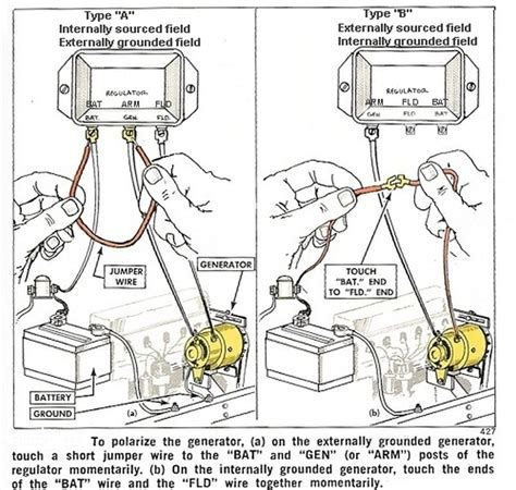 6 Volt Autolite Generator Wiring Diagram by Polarizing A Generator The Cj2a Page Forums