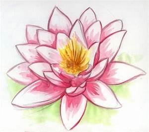 Jardin Dessin Couleur : dessin fleur de lotus dessins dessin fleur de lotus ~ Melissatoandfro.com Idées de Décoration