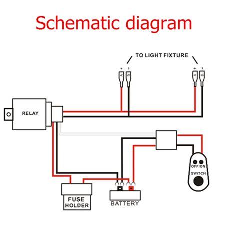 Led Work Fog Light Lamp Bar Wiring Harness Kit