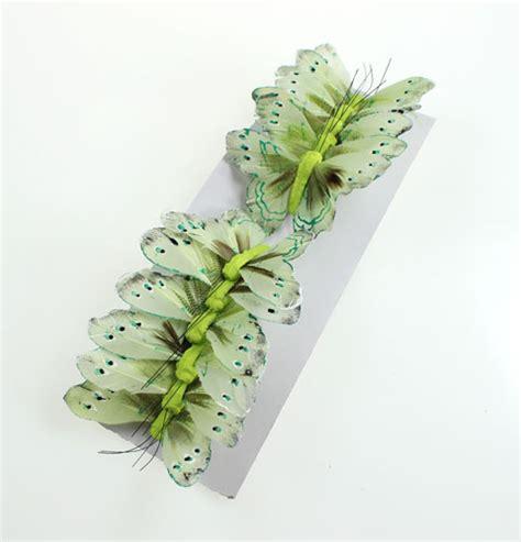 Deko Grün deko schmetterling am draht gr 252 n 8cm 12st preiswert