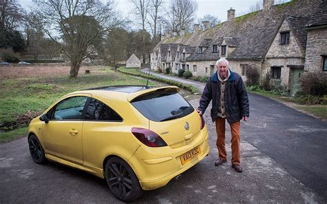 Yellow Car Photobombs Tourist Pictures In Pretty Cotswold